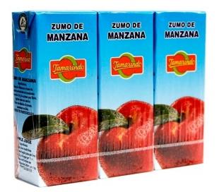 ZUMO MANZANA TAMARINDO PACK 3X200 ML.