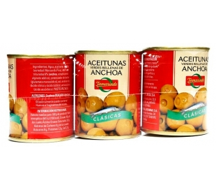 ACEITUNAS RELL.ANCHOA TAMARINDO PACK 3X50 GR.