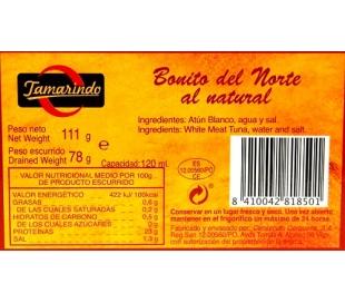 BONITO DEL NORTE AL NATURAL TAMARINDO 78 GR.