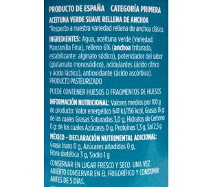 ACEITUNA SUAVES R/ANCHOA JOLCA LATA 130 GR.