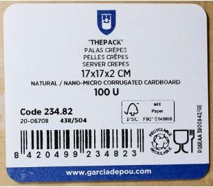 PALAS CREPES 220G/M2 17X17X2 CM THEPACK 100 UN. REF. 23482