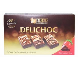 DULCE SELECTO DELICHOC, CON AROMA A FRESA E.MORENO 100 GRS.