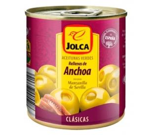 ACEITUNAS RELLENA ANCHOA JOLCA LATA 85 GR.