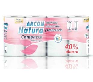 ROLLOS DE COCINA COMPACTO DOBLE CAPA ARCON NATURA 4 ROLLOS