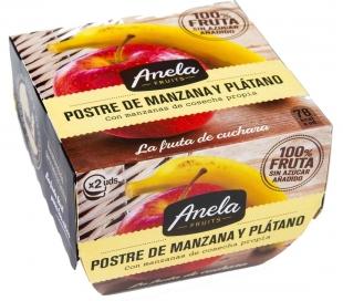 POSTRE DE FRUTAS MANZANA PLAT.100% ANELA PACK 2X100 GR.