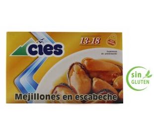 MEJILLONES ESCABECHE 13/18 CIES 69 GR.