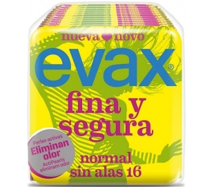 COMPRESAS NORMAL FINA Y SEGURA EVAX 16 UN.