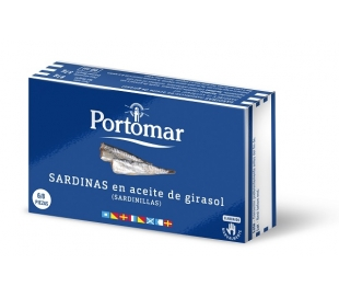 SARDINILLA EN ACEITE DE OLIVA PORTOMAR 57 GRS.