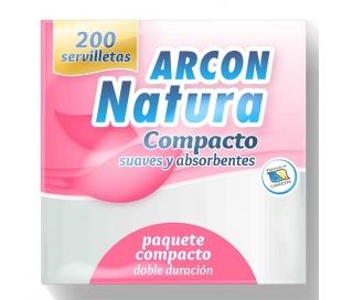 SERVILLETAS DOBLE DURACION ARCON NATURA 200 UN.