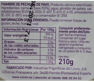 fiambre-pavo-sin-azucares-coren-210-grs