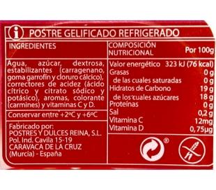 GELATINA FRESA PACK 4X100 GRS.