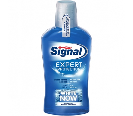 ENJUAGUE BUCAL EXPERT PRO.WHITE NOW SIGNAL 500 ML.