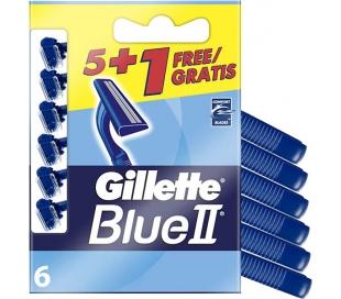 MAQUINA AFEITAR DESECHABLE BLUEII GILLETTE 5/UND.